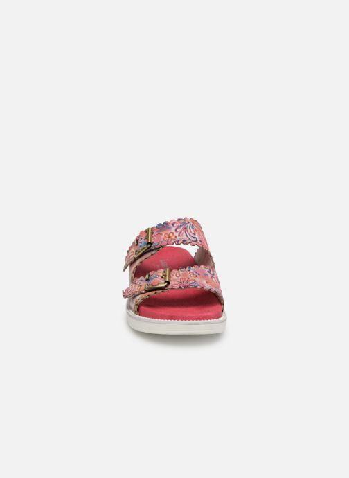 Mules et sabots Laura Vita Facucono 02 Rose vue portées chaussures