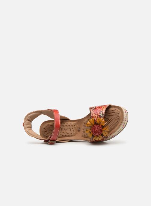 Sandales et nu-pieds Laura Vita FAY 06 Rouge vue gauche