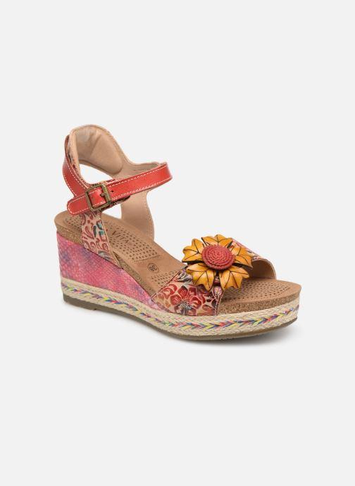 Sandales et nu-pieds Laura Vita FAY 06 Rouge vue détail/paire
