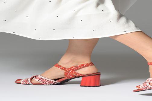 Sandales et nu-pieds Laura Vita FIDJI 01 Violet vue bas / vue portée sac