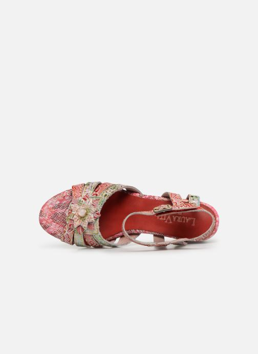 Sandals Laura Vita FLORIE 05 Red view from the left