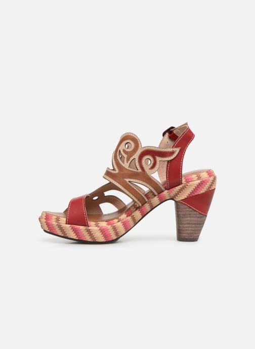 Sandales et nu-pieds Laura Vita FINAL 01 Rouge vue face