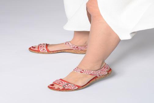 Sandales et nu-pieds Laura Vita FACRDOTO 019 Rouge vue bas / vue portée sac