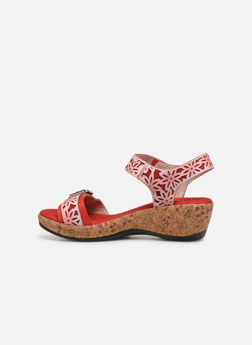 Sandales et nu-pieds Laura Vita FACRDOTO 019 Rouge vue face