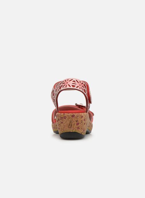 Sandaler Laura Vita FACRDOTO 019 Rød Se fra højre