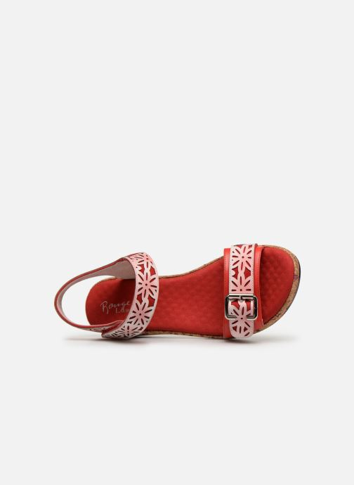 Sandaler Laura Vita FACRDOTO 019 Rød se fra venstre