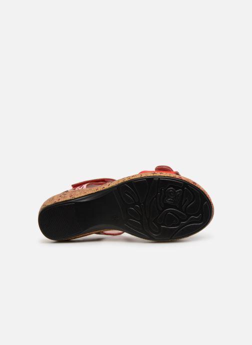 Sandales et nu-pieds Laura Vita FACRDOTO 019 Rouge vue haut