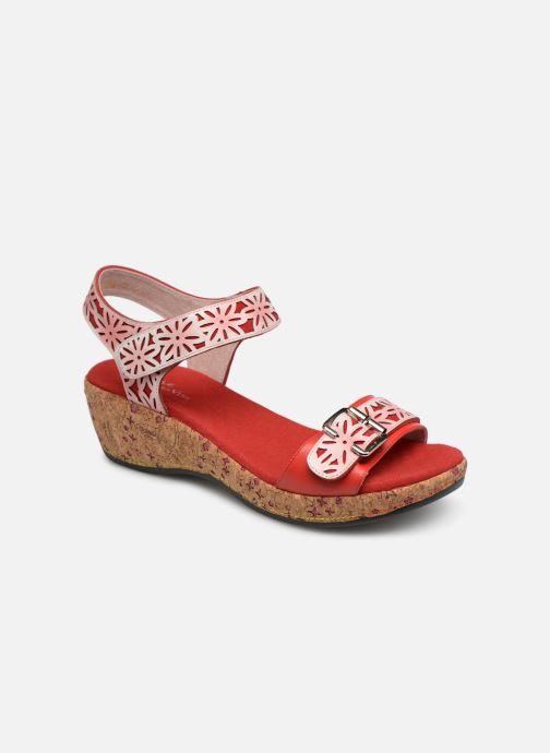 Sandaler Laura Vita FACRDOTO 019 Rød detaljeret billede af skoene