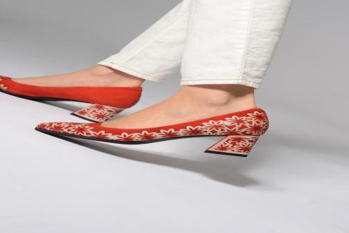 Zapatos de tacón Laura Vita EDCIKAO 021 Rojo vista de abajo
