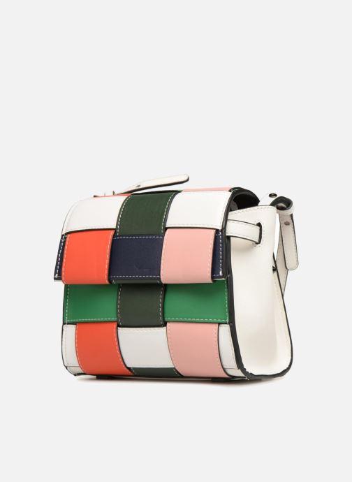 Sacs à main Essentiel Antwerp Salome small shoulderbag Blanc vue portées chaussures