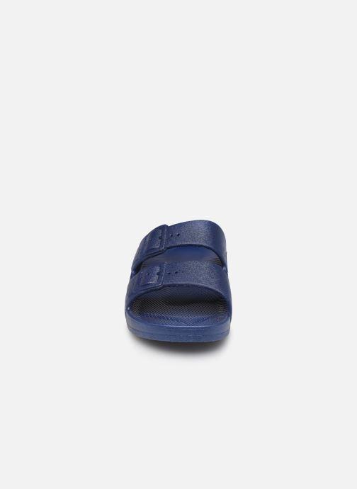 Sandales et nu-pieds MOSES Basic E Bleu vue portées chaussures