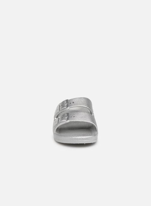 Sandales et nu-pieds MOSES Metallic E Argent vue portées chaussures
