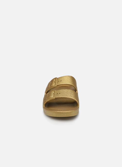 Sandales et nu-pieds MOSES Metallic E Or et bronze vue portées chaussures
