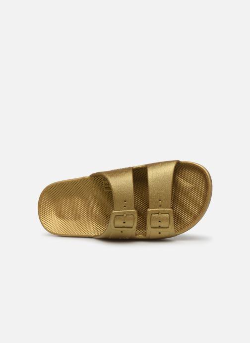 Sandalias MOSES Metallic E Oro y bronce vista lateral izquierda