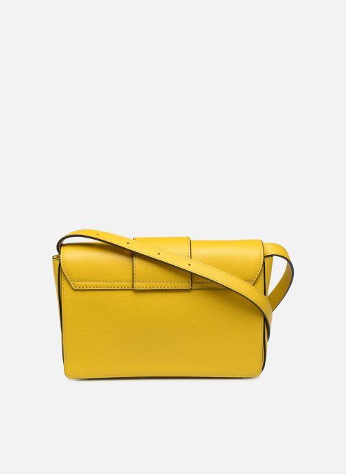 Bolsos de mano Essentiel Antwerp Siloh Leather medium shoulderbag Amarillo vista de frente