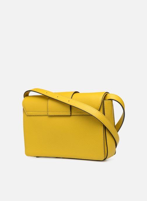 Bolsos de mano Essentiel Antwerp Siloh Leather medium shoulderbag Amarillo vista lateral derecha