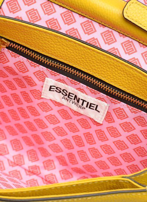 Bolsos de mano Essentiel Antwerp Siloh Leather medium shoulderbag Amarillo vistra trasera