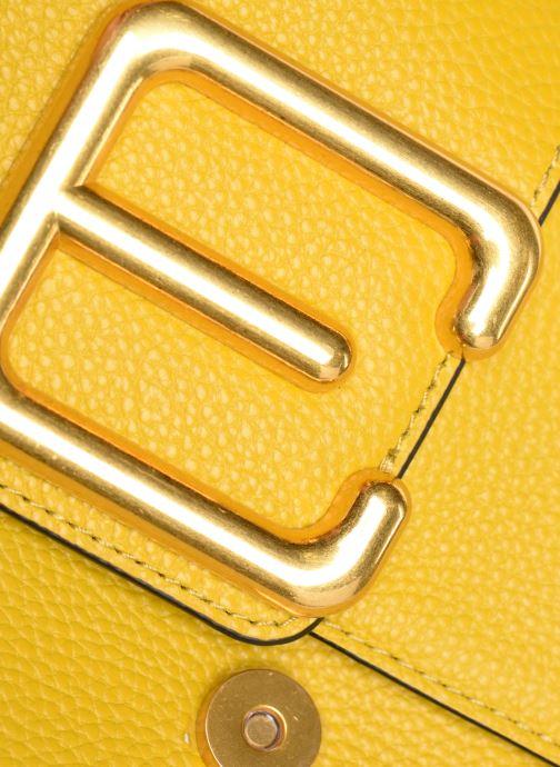 Bolsos de mano Essentiel Antwerp Siloh Leather medium shoulderbag Amarillo vista lateral izquierda