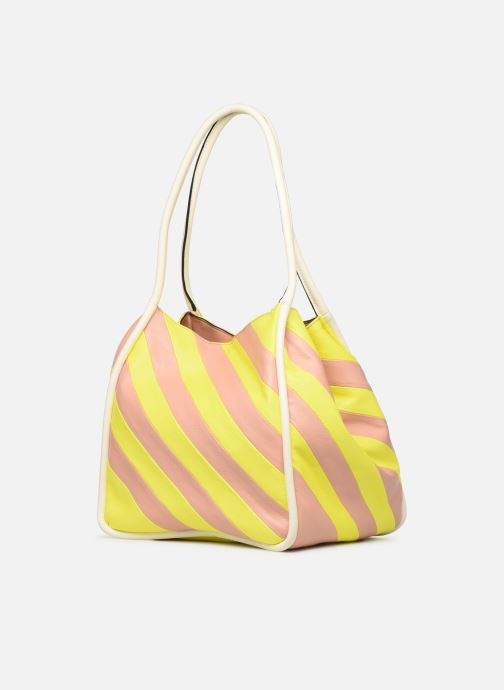 Handtassen Essentiel Antwerp Sherrie medium hobo bag Geel rechts