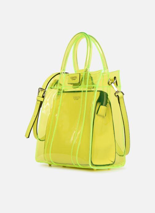 Handtaschen Essentiel Antwerp Smooch small shopper gelb schuhe getragen