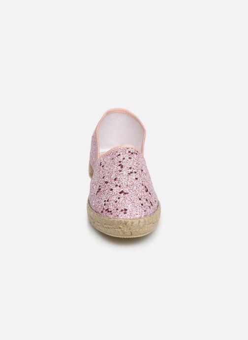 Espadrilles La maison de l'espadrille Sabline Glimer E Rose vue portées chaussures