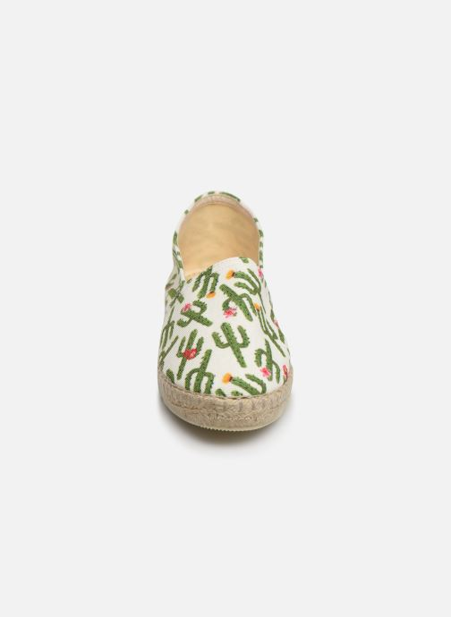 Espadrilles La maison de l'espadrille Sabline VE 2097-1 E Blanc vue portées chaussures