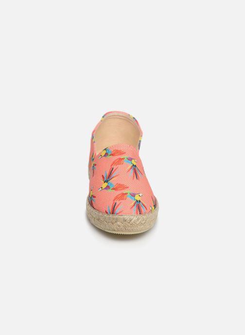 Espadrilles La maison de l'espadrille Sabline VE 2098-1 E Orange vue portées chaussures