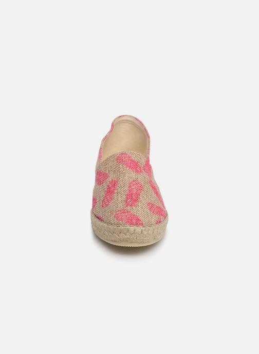 Espadrilles La maison de l'espadrille Sabline VE 2102-1 E Rose vue portées chaussures