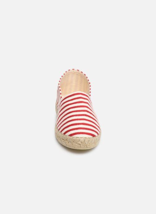 Scarpe di corda La maison de l'espadrille Sabline VE 454-1 Rosso modello indossato