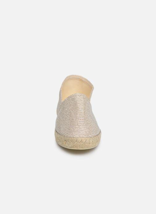 Espadrilles La maison de l'espadrille Sabline VE 709-1 Or et bronze vue portées chaussures