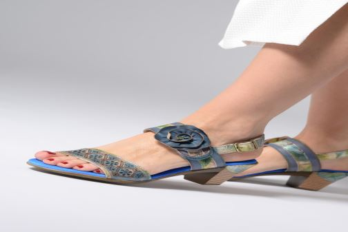 Sandals Laura Vita Becttinoo 34 Blue view from underneath / model view