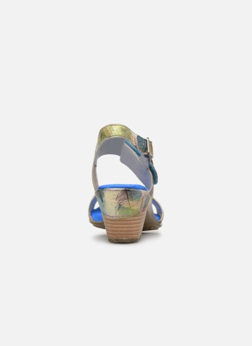Sandals Laura Vita Becttinoo 34 Blue view from the right