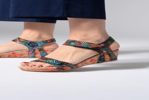 Sandales et nu-pieds Laura Vita Belinda 028 Multicolore vue bas / vue portée sac