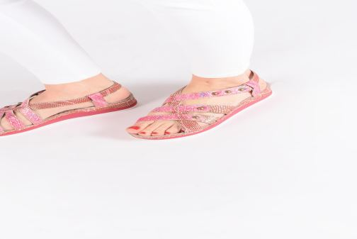 Sandals Laura Vita Brcuelo 56 Red view from underneath / model view