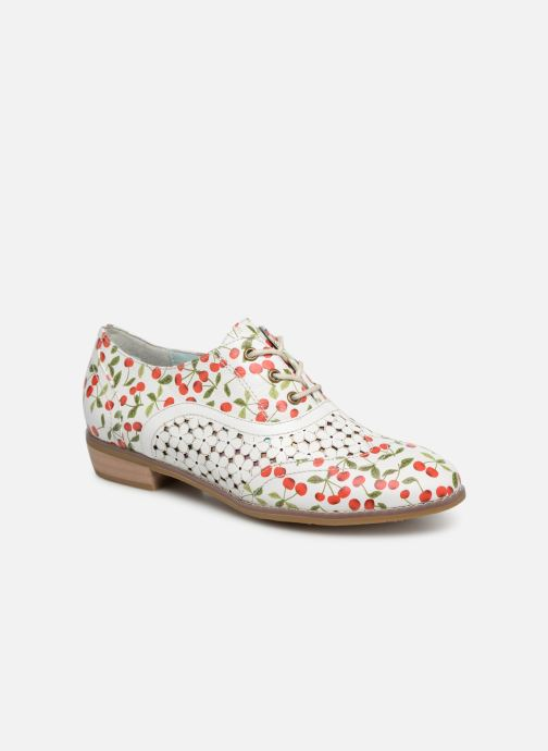 Lace-up shoes Laura Vita Claudie 10 White detailed view/ Pair view