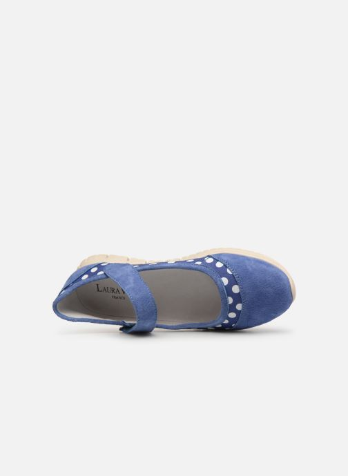 Ballet pumps Laura Vita Dexter 04 Blue view from the left