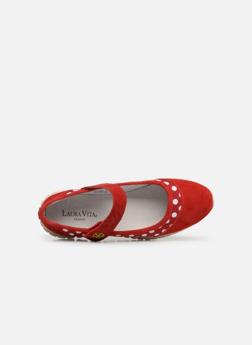 Ballet pumps Laura Vita Dexter 04 Red view from the left