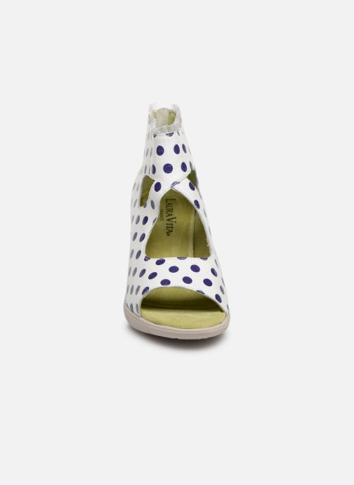 Sandales et nu-pieds Laura Vita Donuts 018 Blanc vue portées chaussures