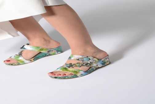 Mules & clogs Laura Vita Facdiao 06 Blue view from underneath / model view