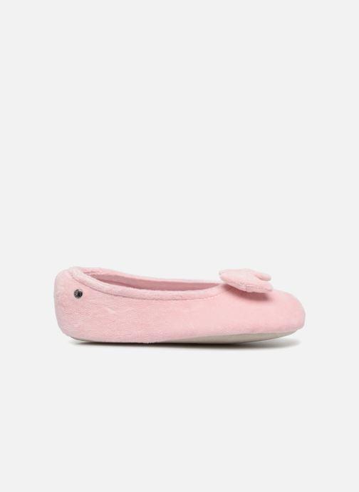 Slippers Isotoner Ballerine Velours Grand Nœud Kids Pink back view