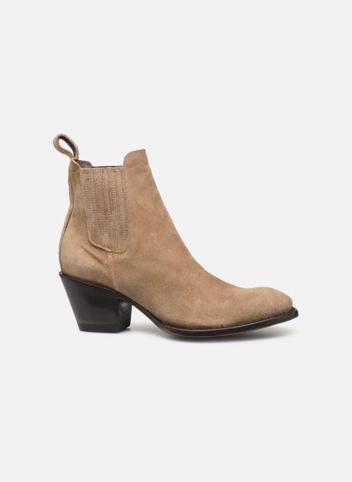 Boots en enkellaarsjes Mexicana Estudio 2 Beige achterkant