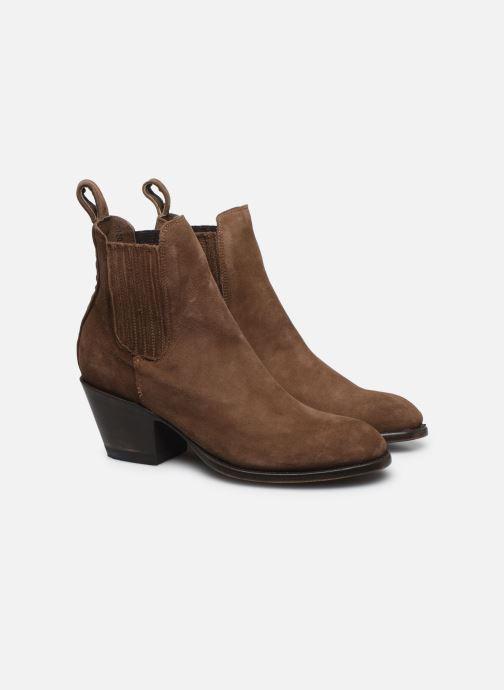 Bottines et boots Mexicana Estudio 2 Marron vue 3/4