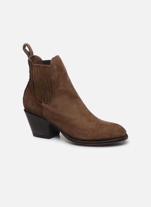 Boots en enkellaarsjes Mexicana Estudio 2 Bruin detail