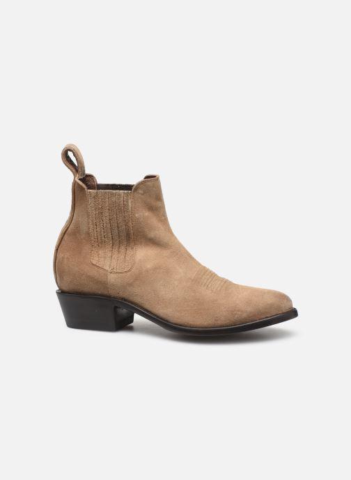 Boots en enkellaarsjes Mexicana Estudio Bis Beige achterkant