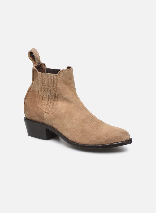 Boots en enkellaarsjes Mexicana Estudio Bis Beige detail