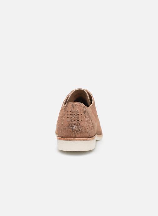 Zapatos con cordones TBS Wallace Oro y bronce vista lateral derecha