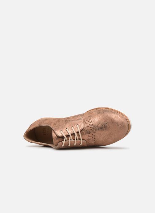 Chaussures à lacets TBS Wallace Or et bronze vue gauche