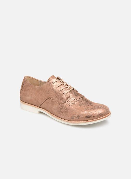 Chaussures à lacets TBS Wallace Or et bronze vue détail/paire