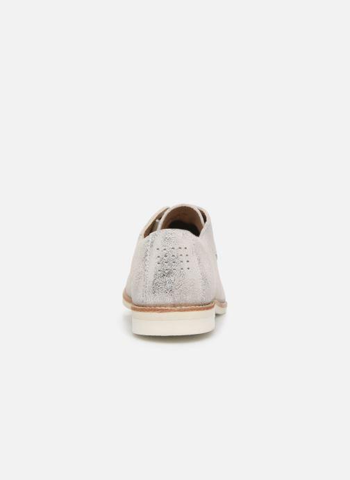 Zapatos con cordones TBS Wallace Plateado vista lateral derecha