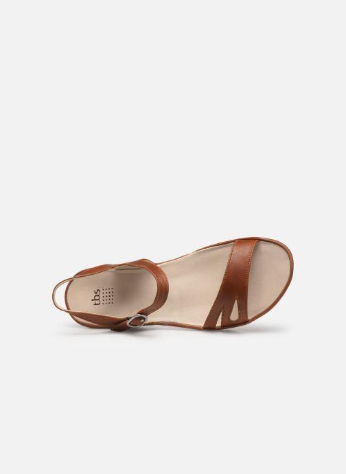 Sandales et nu-pieds TBS Lorette Marron vue gauche